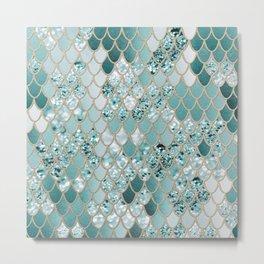 Mermaid Glitter Scales #3 #shiny #decor #art #society6 Metal Print