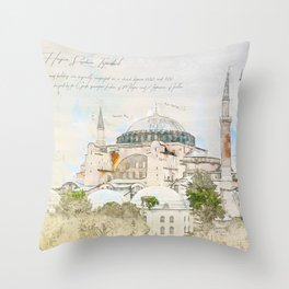 Hagia Sophia, Istanbul Throw Pillow