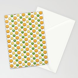 Citrus Medley. Lemon, Lime and Orange Slices on White Stationery Cards