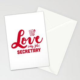 Secretary, School secretary Stationery Cards
