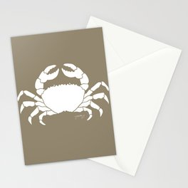 Crab Beige Background Stationery Cards