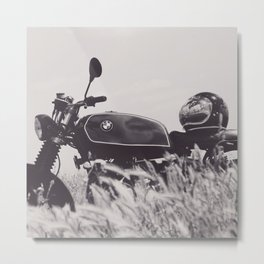 Scrambler photography, motorcycle lovers, motorbike, café racer, cafe racer, man cave gift Metal Print