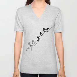 With a little help Unisex V-Neck