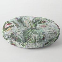 Green blues Floor Pillow