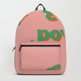 Girl Power // in Green Orange Backpack