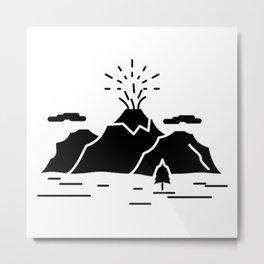 Nature Mountain Metal Print