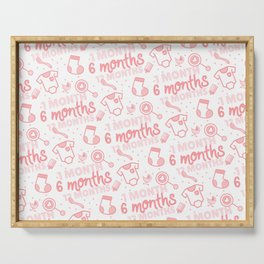 Baby developement milestone pattern design Serving Tray