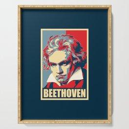 Beethoven Propaganda Poster Pop Art Serving Tray