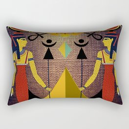 Hathor under the eyes of Ra -Egyptian Gods and Goddesses Rectangular Pillow