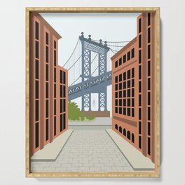 Manhattan Bridge, DUMBO, Downtown Brooklyn, NYC Serving Tray