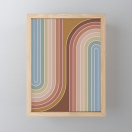 Gradient Curvature IX Framed Mini Art Print