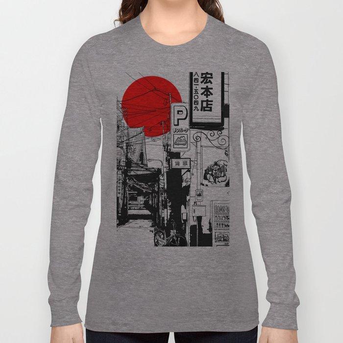 Tokyo street sunrise Langarmshirt