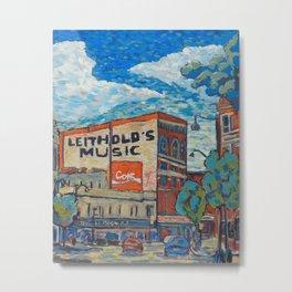 Downtown La Crosse, Wisconsin - Oil Painting Metal Print