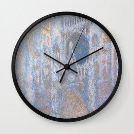 Monet, Rouen Cathedral Series, west facede (La Cathédrale de Rouen) Wall Clock