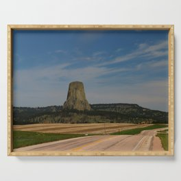 Road To Devils Tower Serving Tray