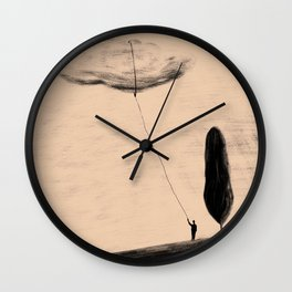Chasing Clouds Wall Clock
