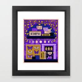 Scorpio Midnight Magic Framed Art Print