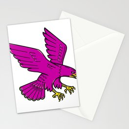 Peregrine Falcon Swoop Mono Line Stationery Cards