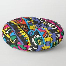 Hand Painted Street Style Print by Nettwork2Design - Nettie Heron-Middleton Floor Pillow
