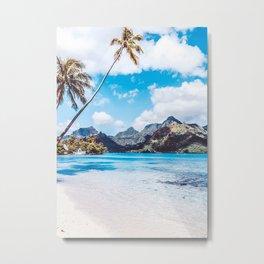 Perfect Beach In Moorea Metal Print