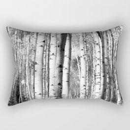 Aspens in Black + White Rectangular Pillow