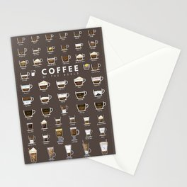 Coffee Chart Stationery Cards