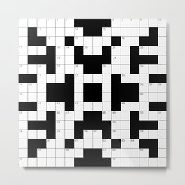 Cool Crossword Pattern Metal Print