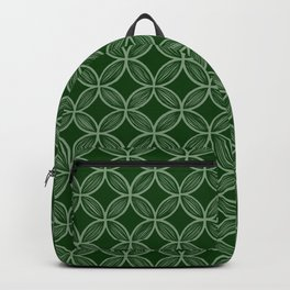 Forest Green Overlapping Circle Drawing Backpack