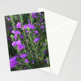 Field of Pink-Lilac Happy Flowers Stationery Cards