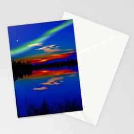 North light over a lake Stationery Cards