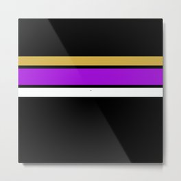 Team  Colors 2...Gold,purple Metal Print