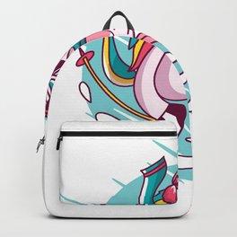 Unicorn ride on the ski Backpack