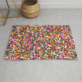 Rainbow Sprinkles Sweet Candy Colorful Rug