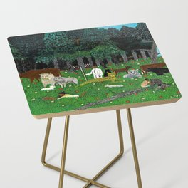 African American Masterpiece 'Holy Mountain III' by Horace Pippin Side Table