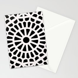 Moroccan Geometric Art Deco Middle Eastern Black & White Pattern  Stationery Cards