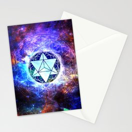 Sacred Geometry Merkaba Abstract Stationery Cards