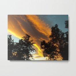Sky Flame Metal Print