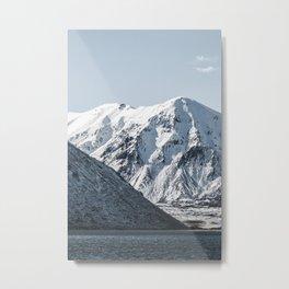 Mountain Lake Winter Metal Print