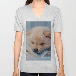 Cute Puppy Unisex V-Neck