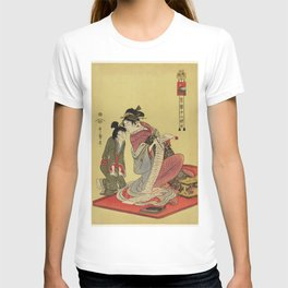 Inu no Koku by Utamaro Kitagawa (1753-1806) translated The Hour of a Dog a print of a traditional Ja T-shirt