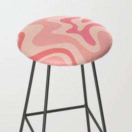 Liquid Swirl Abstract in Soft Pink Bar Stool