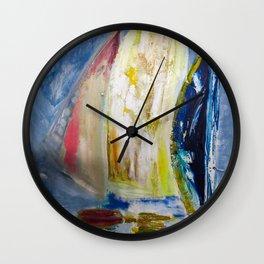 Row, Row, Row your boat - Abstract Sailing Boats Wall Clock
