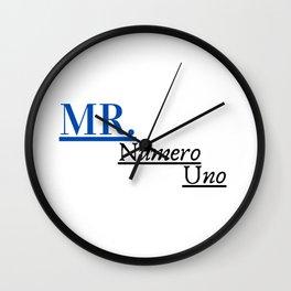Mr Numero Uno Wall Clock