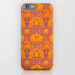 ART NOUVEAU PATTERN, PSYCHEDELIC REBOOT, YELLOW iPhone Case