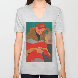 Edouard Vuillard - The Seamstresses - Digital Remastered Edition Unisex V-Neck
