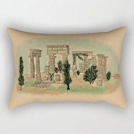 Mountain Temple of Poseidon Rectangular Pillow