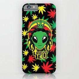Rasta 420 Alien iPhone Case