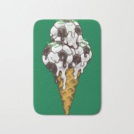 Ice Cream Soccer Balls Badematte