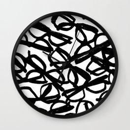 Black Eyeglasses Wall Clock