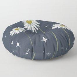 Galactic Daisies Floor Pillow